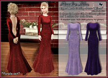 {Paradise kiss} Milena dress-purple set (Rigged Mesh)