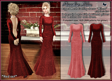 {Paradise kiss} Milena dress-red set (Rigged Mesh)