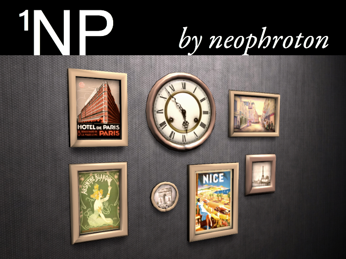 1NP's Memories of Paris (2 prims, COPY)