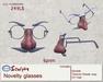 *~M`n B~* Novelty glasses (box)