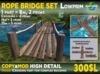 ROPE Bridge SET - Never-ending 100% MESH bridge - lowprim