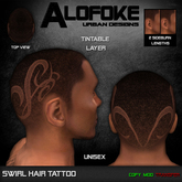 Alofoke! - Swirl Hair Tattoo