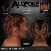 .:: Alofoke Designs ::. Tribal 06 Hair Tattoo