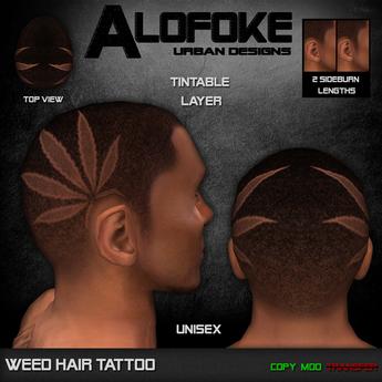 Alofoke! - Weed Hair Tattoo