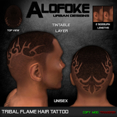 Alofoke! - Tribal Flame Hair Tattoo