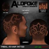 Alofoke! - Tribal 02 Hair Tattoo