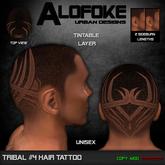 .:: Alofoke Designs ::. Tribal 04 Hair Tattoo