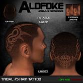 .:: Alofoke Designs ::. Tribal 05 Hair Tattoo