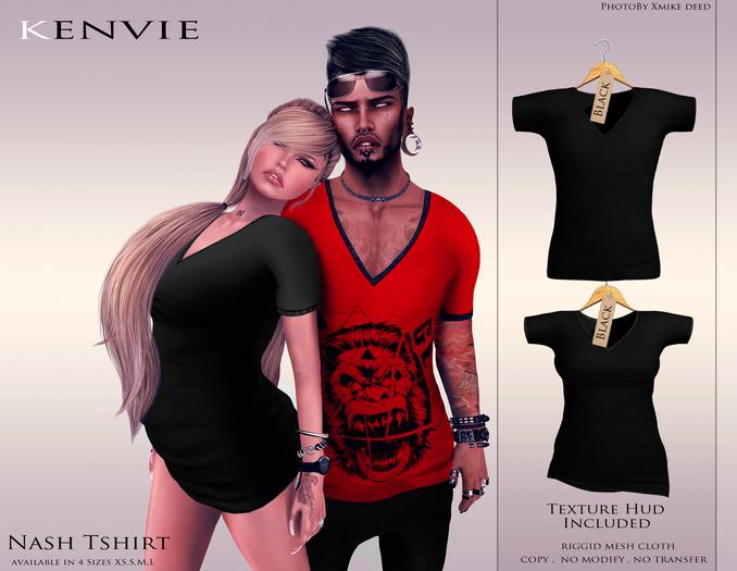 KENVIE . mesh Nash Tshirt Black