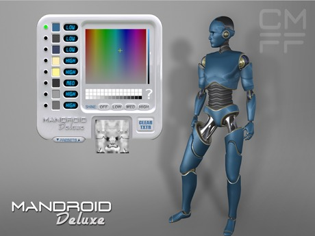 CMFF ManDroid Deluxe - Customizable Mesh Avatar with HUD