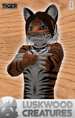 Luskwood Tiger Avatar - (Complete Male Furry Avatar)