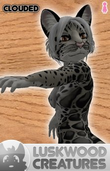 Luskwood Clouded Leopard Furry Avatar - Female