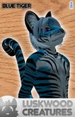 Luskwood Blue Tiger Furry Avatar - Male