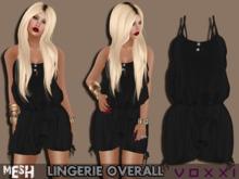 .::voxxi::. ZOEY Mesh Lingerie Overall Satin Black
