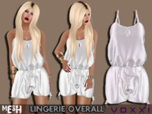 .::voxxi::. ZOEY Mesh Lingerie Overall White