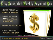 ::CreaTive DesiGn'S:: 0060 - Easy Scheduled Weekly Payment Box
