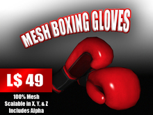 Red Mesh Boxing Gloves