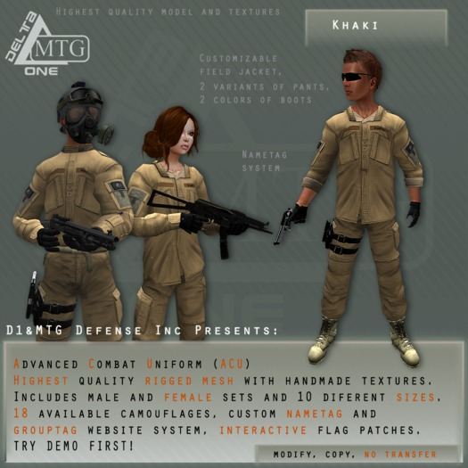 D1&MTG - ACU- Uniform - Khaki