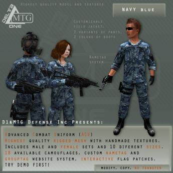 D1&MTG - ACU- Uniform - Navy