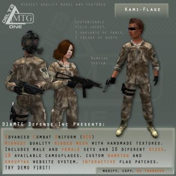 D1&MTG - ACU- Uniform - Kami-flage
