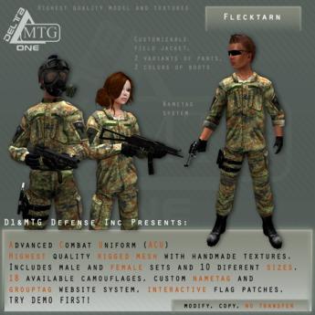 D1&MTG - ACU- Uniform - Flecktarn