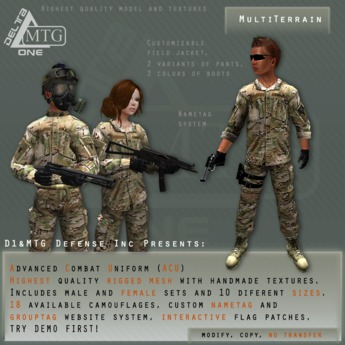 D1&MTG - ACU- Uniform - MultiTerrain