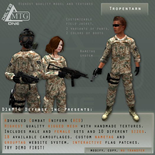 D1&MTG - ACU- Uniform - Tropentarn