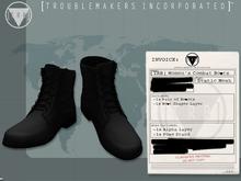 [TRB] Women's Combat Boots: Black