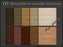 Pack 10 wood floor planks textures