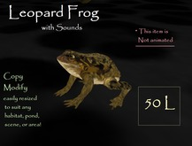 Petite  Leopard Frog w sounds ( 9 prims ) NOT ANIMATED