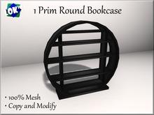 Lok's 1 Prim Mesh Bookcase (Round Bookshelf) Black