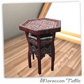 Carved Wood Moroccan Table 1 Prim Mesh