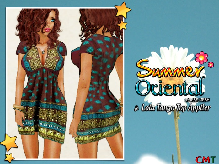 Summer Oriental Dress Mesh ( & Lola Tango Top Applier )