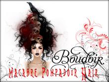 Boudoir-Macabre Pompadour Hair