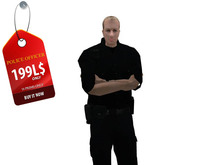 Mesh Police Officer White dummy Copy Modify Transfer