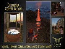 =Icarus= Chimnea - Copper & Coal (Outdoor Fire)