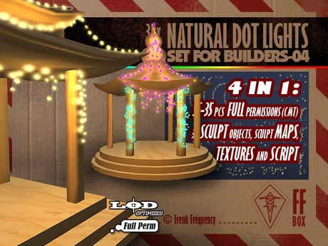 [FFBox] 35x Natural Dot Lights Set-04 {Full Perm} for Builders
