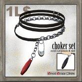 edge grafica / 09 choker set(oval cut)