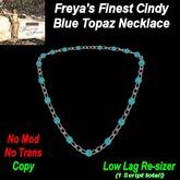 Freya's Finest Cindy Blue Topaz Necklace