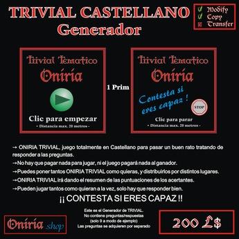 ONIRIA TRIVIAL CASTELLANO-GENERADOR