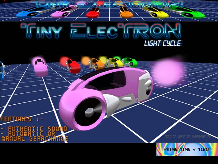 Prime Time 4 Tinies Tiny Electron light cycle (neon pink)