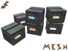 Mesh Sci-Fi Crate - 4 colors, 6 labels