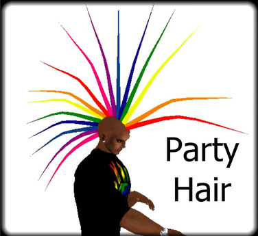 Rainbow - Rave Party Hair