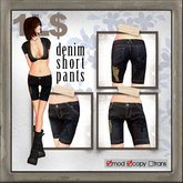 edge grafica / 17 denim-short pants