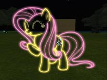 Little Pony Fluttershy Neon Lights