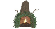 Twigtastic fireplace