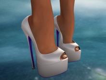 Ixone Peep Toe Platform Multicolor Heels + Rigged Mesh Feet