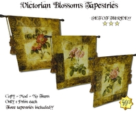 Victorian Blossoms Tapestries - SET OF THREE!