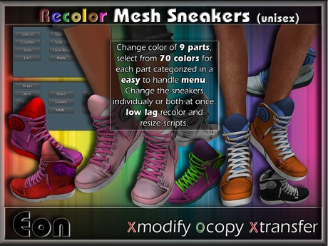 Recolor Sporty Mesh Sneakers (male) ..:: EON ::..