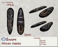 *~M`n B~* African masks (box)